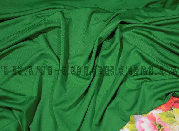 Микромасло трикотаж зеленый, фото 2