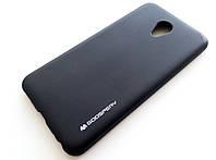 Чехол силиконовый Goospery для Meizu M5 черный матовый