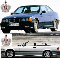 Автостекло, лобовое стекло на BMW (БМВ) 3 E36 Coupe / Cabriolet  (1990 - 1999)