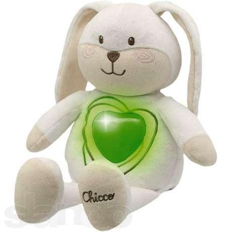 Ночник мягкий Зайчик Sweetheart Chicco