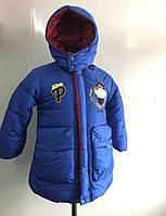 Курточка-пальто зимняя с мехом 3-7 лет