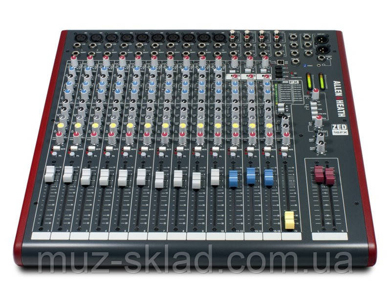 Allen Heath ZED16FX микшерный пульт, 10 моно + 3 стерео канала