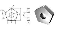 Пластина 10113-110408 (PNUA-110408), пятигранная, ВК8 (B35), dвн.=6.35мм, гладкая