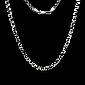 Серебряная цепочка, 550мм, 14 грамм, плетение Бисмарк, чернение