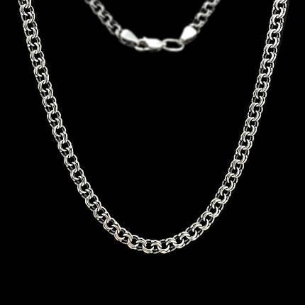 Серебряная цепочка, 550мм, 15 грамм, плетение Бисмарк, чернение, фото 2 f180192a436