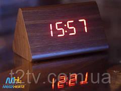 Часы дерево VST 864 подсветка Red