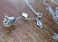 """Серебристый  кулончик   """"Роза"""" от студии LadyStyle.Biz, фото 1"""