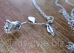 """Серебристый  кулончик   """"Роза"""" от студии LadyStyle.Biz"""