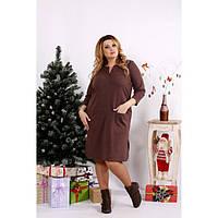 Коричневое платье на каждый день ККК1236-0678-2
