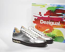 Шикарные кожаные кроссовки-сникеры Desigual, Испания-Оригинал