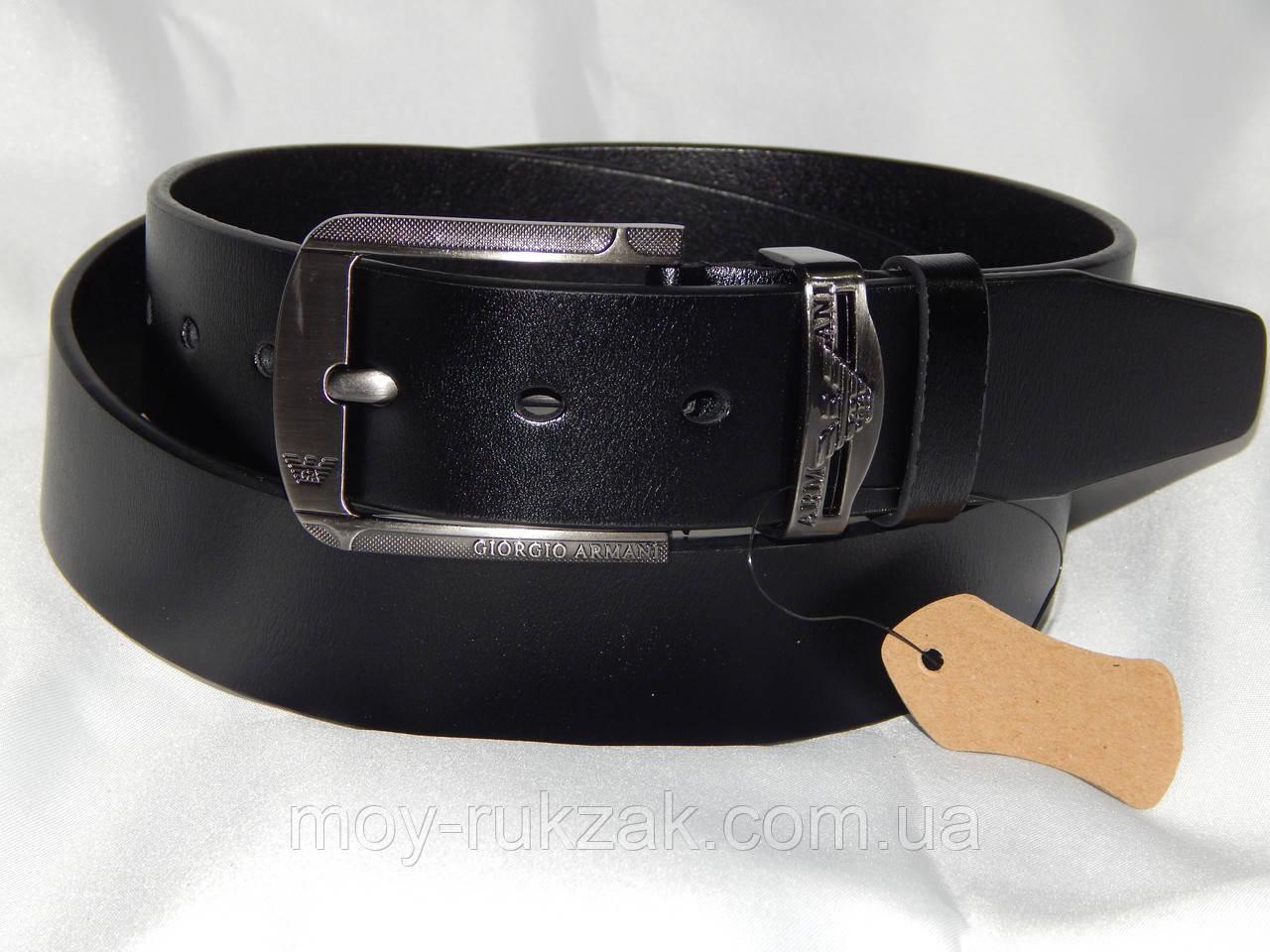Ремень мужской кожаный Giorgio Armani ширина 40 мм. реплика 930595