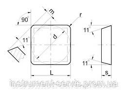 Пластина твердосплавная 03331-120308 К20 (ВК6)