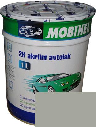 """Автокраска 671 Эмаль акриловая Helios Mobihel """"Светло-серая"""" 1л без отвердителя"""