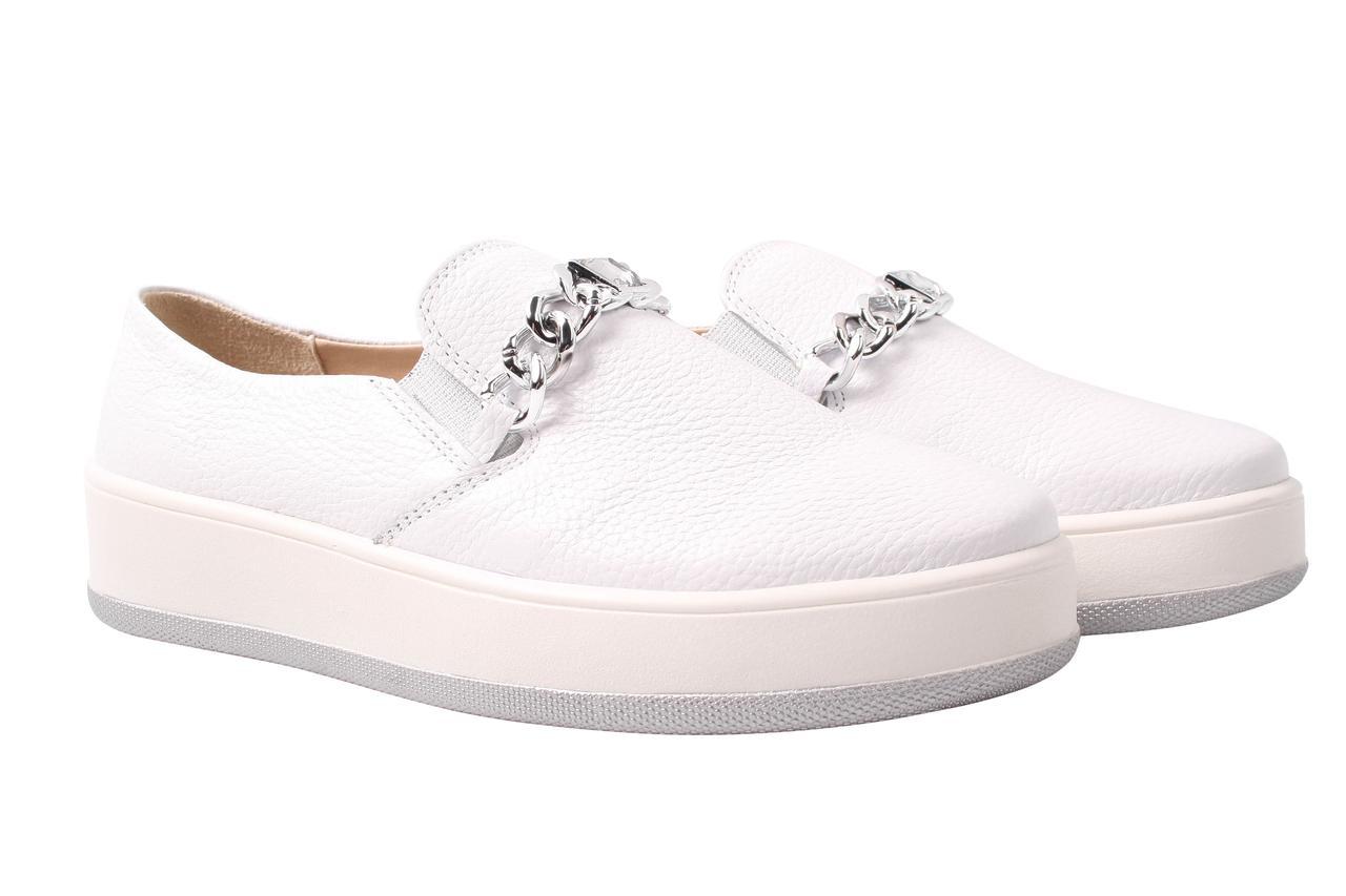 Туфли женские Bandinelli натуральная кожа, цвет белый (платформа, стильные, комфорт)