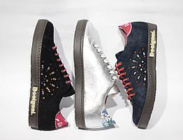 Шикарные замшевые кроссовки-сникеры Desigual, Испания-Оригинал