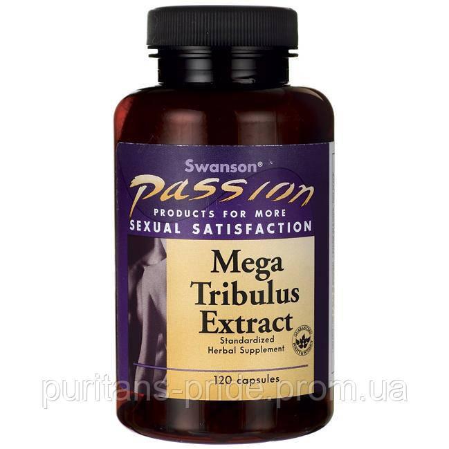 Трибулус Якорцы экстракт, 250 мг 120 капсул, Mega Tribulus Extract, Swanson