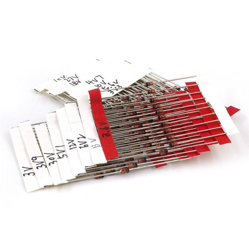 Комплект стабилитронов  3.3-30В 1Вт