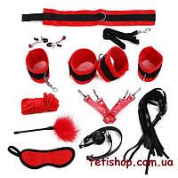 Эротичный БДСМ набор из текстиля 11 предметов
