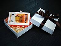 Мыло ручной работы с картинкой 50 евро