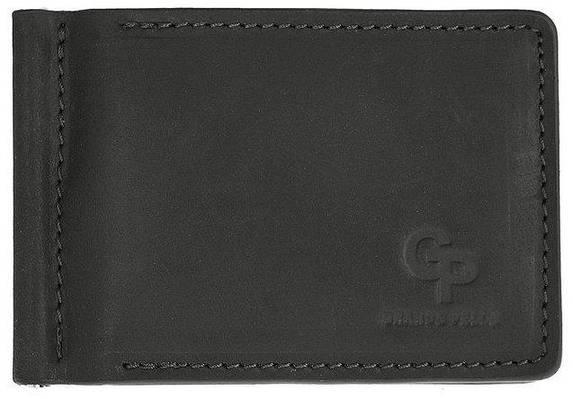 Зажим-портмоне для денег кожаный Grande Pelle 109110 черный