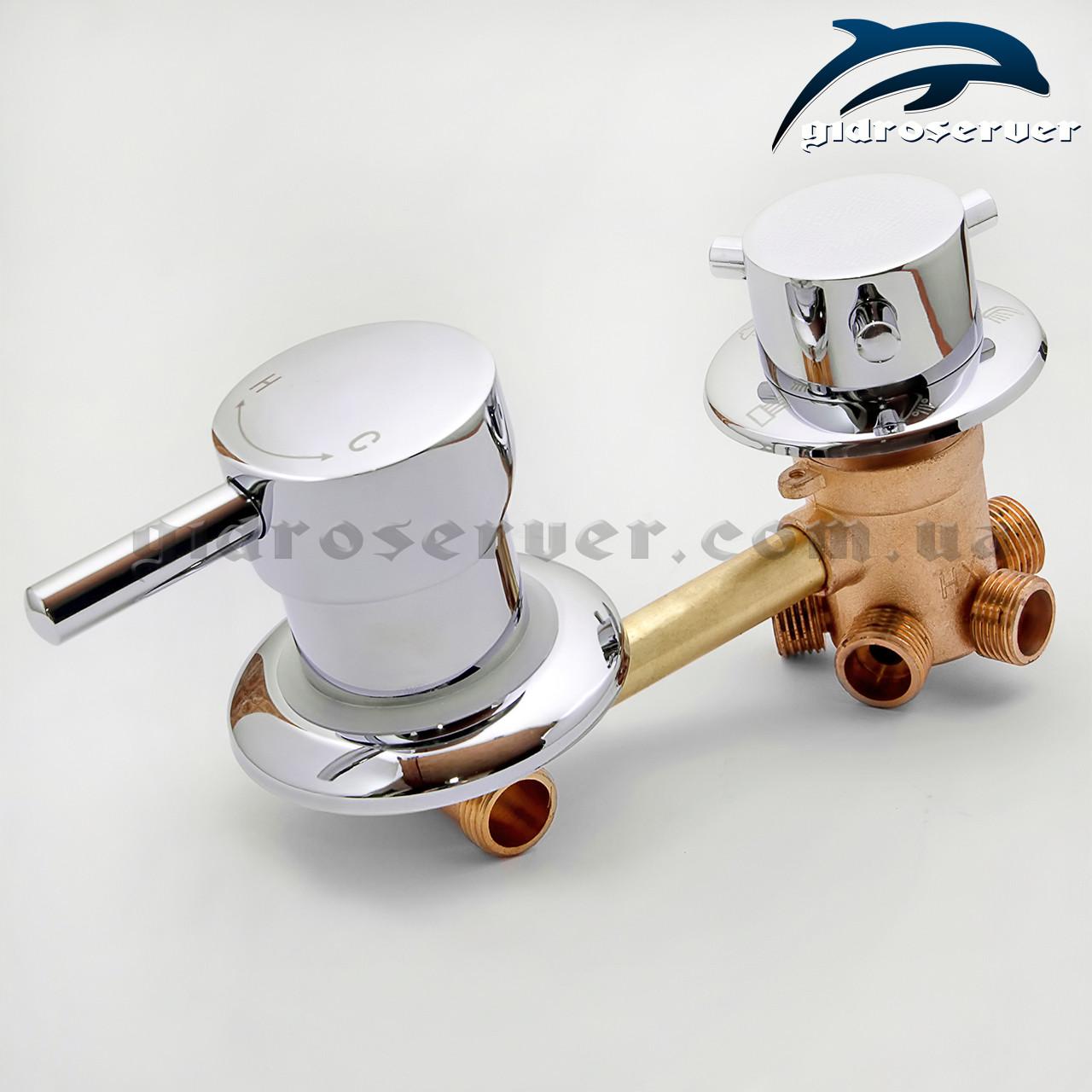 Змішувач для душової кабіни, гідромасажного боксу G 5 - 120 мм.