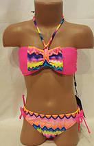Купальник для подростков гавайский, идет на наши 32,34,36,38 размеры, фото 3