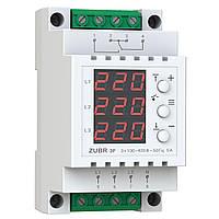 Реле контроля фаз/напряжения ZUBR 3F с вольтметром  (3F)