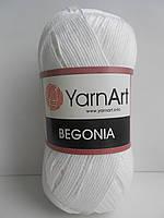Пряжа YarnArt Begonia ( ЯрнАрт Бегония ) №1000 белый
