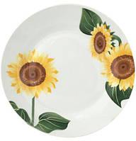 """Набор 6 подставных тарелок """"Подсолнухи"""" Ø26.5см"""