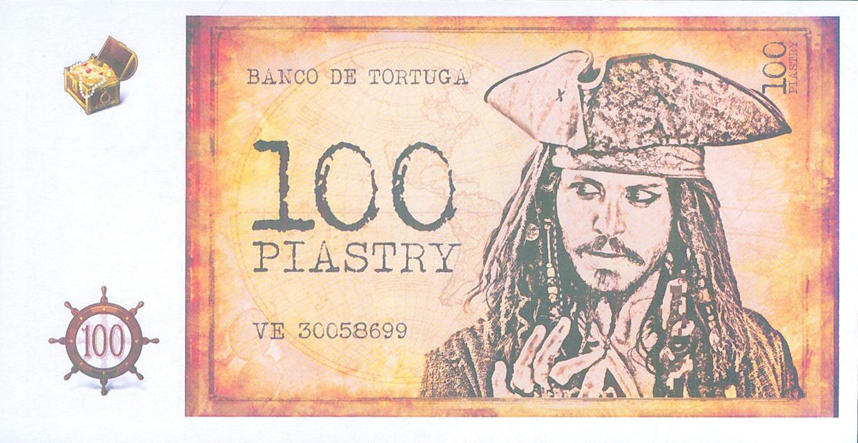 """Деньги сувенирные """"100 пиастров"""". В упак: 80 шт."""