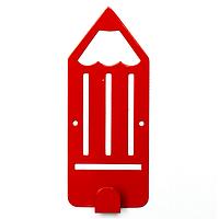 Крючок настенный детский Glozis Pencil Red