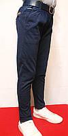 Мальчуковые брюки весенние синего цвета с поясом под резинку от 6-14лет (116-158см). Фирма TYK-Польша.