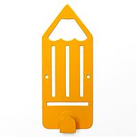 Крючок настенный детский Glozis Pencil Yellow