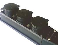 Розетка тройная каучук 1х16А (8) MUTLUSAN, фото 1