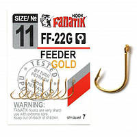 Крючок одинарный Fanatik FEEDER GOLD FF-22G №11 (7шт)