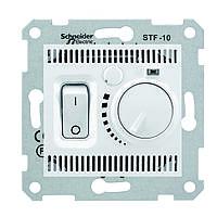 Термостат для теплого пола с датчиком Schneider  Sedna Белый (SDN6000321)
