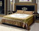 Ліжко з ДСП/МДФ в спальню 2-сп (б/матрасу та каркаса) з м`яким бильцем Софія Люкс чорне Світ Меблів, фото 2