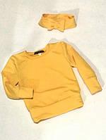 Джемпер з двонитки жовтий та інші кольори Детская кофта