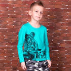 """Детская футболка с длинным рукавом для мальчика FT-ST-1 """"Сафари"""" (11189), Габби"""