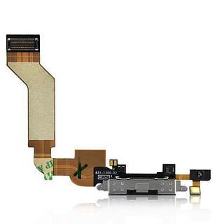 Оригинальный порт зарядки и синхронизации со шлейфом и нижним микрофоном iPhone 4S черный