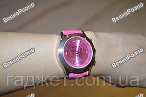 Женские часы Geneva розового цвета., фото 2