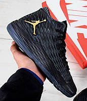 Баскетбольные кроссовки Nike Air Jordan Melo M13 Black/Metallic Gold-Anthracite (Топ реплика ААА+)