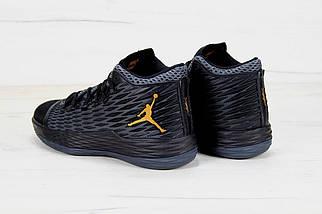 Баскетбольные кроссовки в стиле Nike Air Jordan Melo M13 Black/Metallic Gold-Anthracite, фото 3