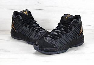 Баскетбольные кроссовки в стиле Nike Air Jordan Melo M13 Black/Metallic Gold-Anthracite, фото 2