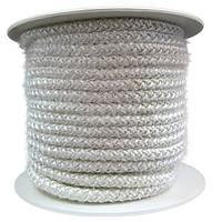 Термостойкий керамический уплотнительный шнур для герметизации двери печки буржуйки. Толщина 8 мм