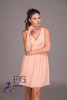 """Нарядное платье """"Baby doll"""" - распродажа модели персик, 44"""