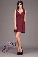 "Нарядное платье ""Baby doll"" - распродажа модели бордо, 42"