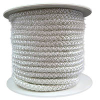 Термостойкий керамический уплотнительный шнур для герметизации двери печки буржуйки. Размер 12 на 12 мм