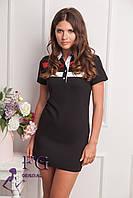 """Платье летнее """"Sunrise"""" - распродажа модели черный, 46"""