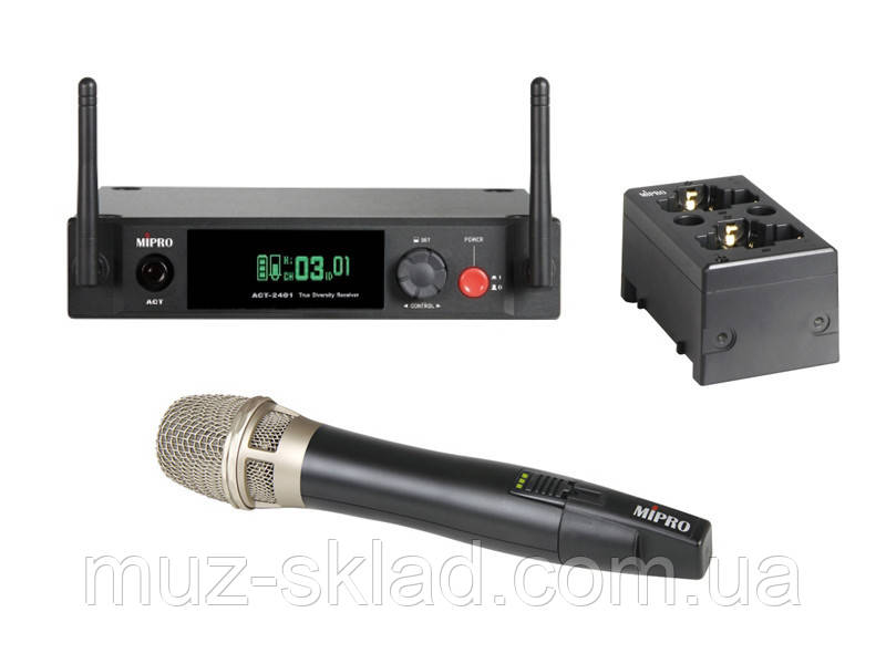 Mipro ACT-2401/ACT-24HC/MP-80 цифровая радиосистема UHF с ручным конденсаторным микрофоном